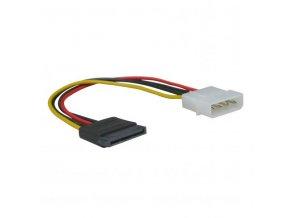 """Kabel k hardisku napájecí, DC SATA M- DC 5,25"""" M, 0.2m, color"""