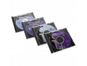 Box na 1 ks CD, průhledný, černý tray, 10,4 mm, 200-pack, cena za 1 ks