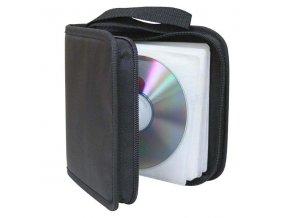 Box na 48 ks CD, textil, černý, album, zip