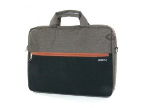 """Taška na notebook 15,6"""", Stylish, hnědá z plátna/polyesteru, Logo"""