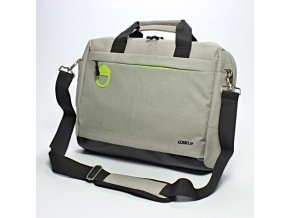 """Taška na notebook 15,6"""", Graceful, šedá z polyesteru, Logo"""
