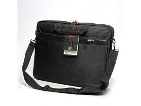 """Taška na notebook 15,6"""", Barcelona, černá z polyesteru, Logo"""
