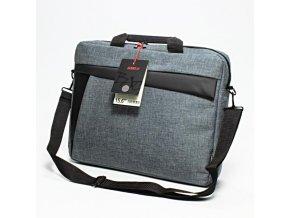 """Taška na notebook 15,6"""", New York, šedá z plátna, Logo"""