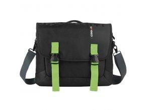 """Messenger na notebook 15,6"""", černá se zelenými prvky z nylonu, NT012, Crown"""