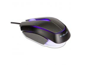E-Blue Myš Mood, 2400DPI, optická, 3tl., 1 kolečko, drátová USB, černá, 3 barvy podsvícení