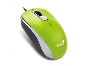 Genius Myš DX-110, 1000DPI, optická, 3tl., 1 kolečko, drátová USB, zelená