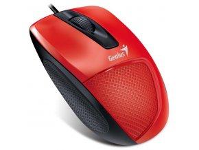 Genius Myš DX-150, 1200DPI, optická, 3tl., 1 kolečko, drátová USB, červená