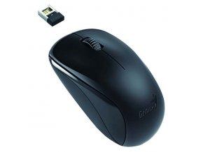 Genius Myš NX-7000, 1200DPI, 2.4 [GHz], optická, 3tl., 1 kolečko, bezdrátová, černá, univerzální