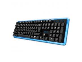 E-BLUE Klávesnice K734, multimediální, podsvícená typ černá, drátová (USB), US