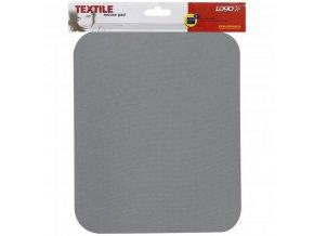 Podložka pod myš, měkká, šedá, 24x22x0,3 cm, Logo
