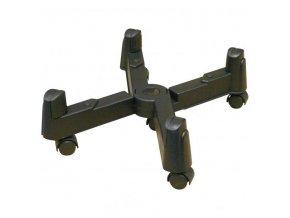 Držák PC na zem, nastavitelná šířka, černý, plast, šířka 1 - 25,5 cm, černá, PC