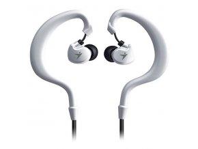 Genius HS-M270, sluchátka s mikrofonem, bez ovládání hlasitosti, bílá, sportovní, 3.5 mm jack
