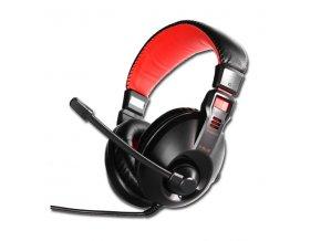 E-Blue Conqueror I., sluchátka s mikrofonem, ovládání hlasitosti, černá, 2x 3.5 mm jack