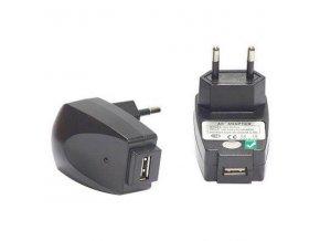 USB nabíječka, 220V (el.síť), 5V, 1000mA, nabíjení mobilních telefonů a GPS