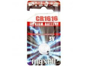 Baterie lithiová, konflíková, CR1616, 3V, Maxell, blistr, 1-pack