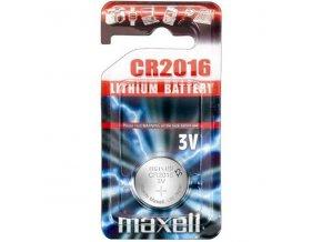 Baterie lithiová, knoflíková, CR2016, 3V, Maxell, blistr, 1-pack