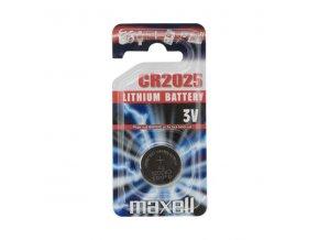 Baterie lithiová, knoflíková, CR2025, 3V, Maxell, blistr, 1-pack
