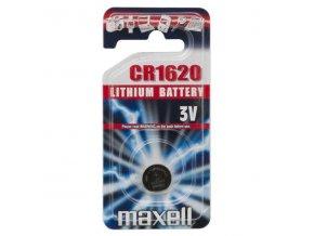 Baterie lithiová, knoflíková, CR1620, 3V, Maxell, blistr, 1-pack