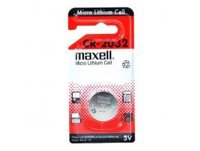 Baterie lithiová, knoflíková, CR2032, 3V, Maxell, blistr, 1-pack