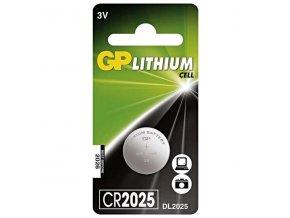 Baterie lithiová, knoflíková, CR2025, 3V, GP, blistr, 1-pack