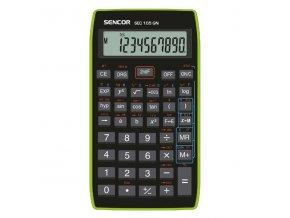 Sencor Kalkulačka SEC 105 GN, černá, školní, desetimístná, zelený rámeček