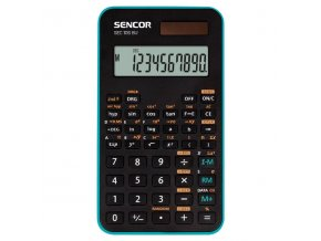 Sencor Kalkulačka SEC 106 BU, modrá, školní, desetimístná, modrý rámeček