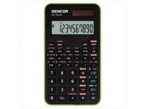 Sencor Kalkulačka SEC 106 GN, zelená, školní, desetimístná, zelený rámeček