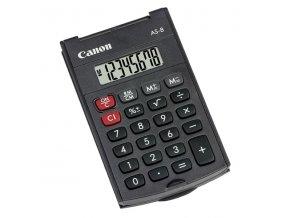 Canon Kalkulačka AS-8, šedá, kapesní, osmimístná