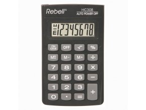 Rebell Kalkulačka RE-HC308 BX, černá, kapesní, osmimístná