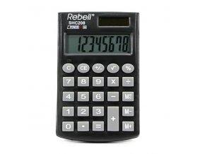 Rebell Kalkulačka RE-SHC208 BX, černá, kapesní, osmimístná