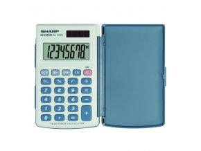 Sharp Kalkulačka EL-243S, šedo-modrá, kapesní, osmimístná