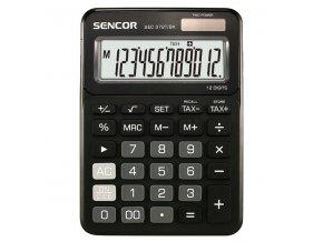 Sencor Kalkulačka SEC 372T/BK, černá, stolní, dvanáctimístná
