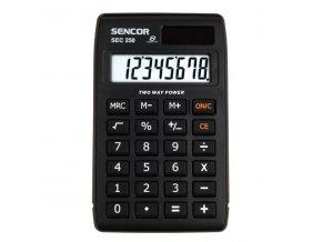 Sencor Kalkulačka SEC 250, černá, stolní, osmimístná, velký displej