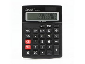 Rebell Kalkulačka RE-8118-12 BX, černá, stolní, dvanáctimístná