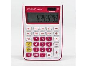 Rebell Kalkulačka RE-SDC912PK BX, růžová, stolní, dvanáctimístná