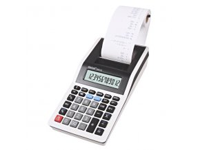 Rebell Kalkulačka RE-PDC10 WB, bílo-černá, stolní s tiskem, dvanáctimístná