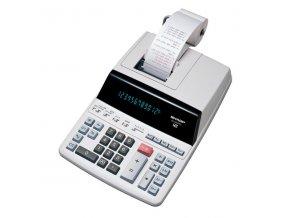 Sharp Kalkulačka EL-2607PGGYSE, bílá, stolní s tiskem, dvanáctimístná