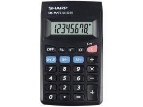 Sharp Kalkulačka EL-233S, černá, kapesní, osmimístná