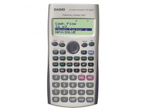 Kalkulačka Casio, FC 100 V, bílá, finanční s 4 řákovým displejem