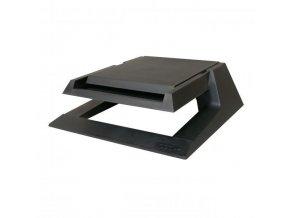 Podstavec pod monitor, se zásuvkou na kancelářské potřeby, černý, plast, 23 kg nosnost, Logo, LCD i CRT