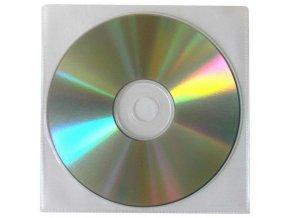 Obálka na 1 ks CD, polypropylen, průsvitná, bez klopy, 100-pack, cena za 1 ks
