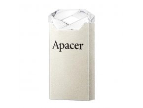 Apacer USB flash disk, USB 2.0, 16GB, AH111, stříbrný, AP16GAH111CR-1, USB A