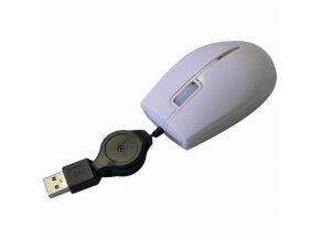 All New Myš M-92, 800DPI, optická, 3tl., 1 kolečko, drátová USB, bílá, mini