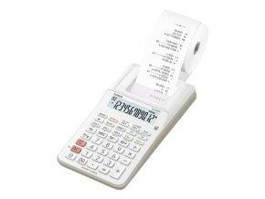 Casio Kalkulačka HR 8 RCE WE, bílá, stolní, dvanáctimístná, jednobarevný tisk