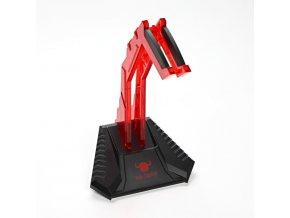 Stojan na sluchátka červený, plast, Red Fighter