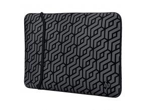 "Sleeve na notebook 14"", Reversible - Geometric, šedý z neoprenu, HP"
