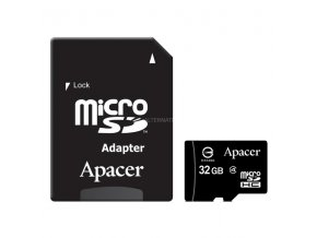 Apacer paměťová karta Secure Digital, 32GB, micro SDHC, AP32GMCSH4-R, Class 4, s adaptérem