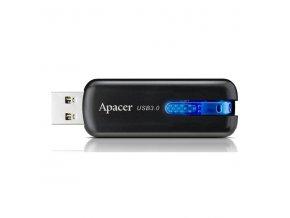 Apacer USB flash disk, 3.0, 16GB, AH354, černý, modrý, AP16GAH354B-1, s výsuvným konektorem