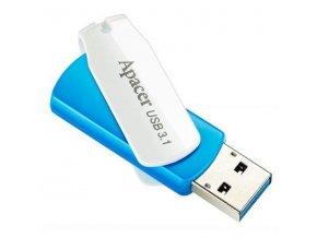 Apacer USB flash disk, 3.1, 16GB, AH357, bílá, modrá, AP16GAH357U-1, s otáčecí krytkou