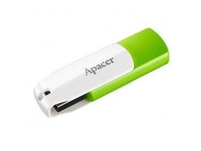 Apacer USB flash disk, USB 2.0, 16GB, AH335, zelený, AP16GAH335G-1, USB A, s otočnou krytkou